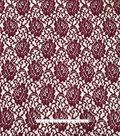 Stretch Lace Knit Fabric 56\u0022-Cabernet