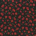 Premium Cotton Fabric-Tossed Poppies on Black