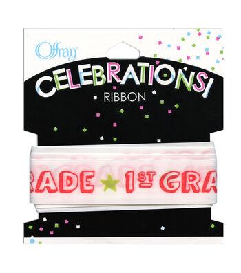 """Offray Celebrations Ribbon 7/8"""" x 9'- School"""