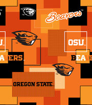 Oregon State University Beavers Cotton Fabric 43''-Modern Block, , hi-res