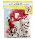 Little Makers Summer Drawstring Canvas Bag Kit-Camp