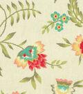 Waverly Upholstery Fabric 13x13\u0022 Swatch-Carolina Crewel Bloom