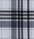 Snuggle Flannel Fabric 42\u0027\u0027-Gray Plaid