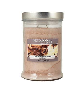 Hudson 43 Candle & Light Collection 18oz Vanilla Cinnamon Jar