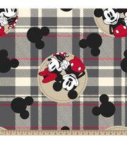 Disney Mickey & Minnie Fleece Fabric-Plaid, , hi-res