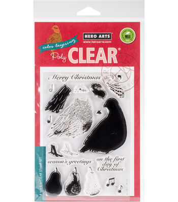 Hero Arts 21 pk Color Layering Clear Stamps-Partridge