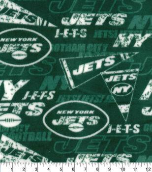 New York Jets Fleece Fabric-Retro