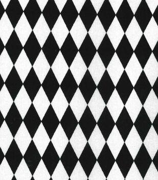 Keepsake Calico Cotton Fabric -Black & White Diamond