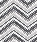 Snuggle Flannel Fabric -Dotted Chevron