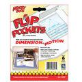 Flip Pockets 4\u0022x6\u0022 Peel&Stick Holders 6PK