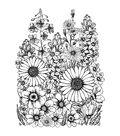 Crafty Individuals Unmounted Rubber Stamp 4.75\u0022X7\u0022 Pkg-A Garden Of Flowers