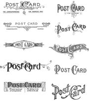 Tim Holtz Cling Rubber Stamp Set-Postcards, , hi-res