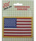 Wrights Iron-On Applique-American Flag -2-1/2\u0022X3-1/2\u0022