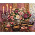 Dimensions Gold Collection Romantic Floral Counted X-Stitch-16\u0022X13\u0022