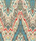 P/K Lifestyles Lightweight Decor Fabric 54\u0022-Bray Flamestitch/Persimmon
