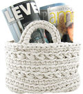 Hoooked Revisto Basket Kit with Zpagetti Yarn-Off White
