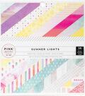 Pink Paislee Single-Sided Paper Pad 6\u0022X6\u0022-Summer Lights