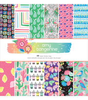 American Crafts Sunshine & Good Times 12''x12'' Single-Sided Paper Pad, , hi-res