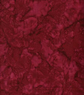 "Batik Cotton Fabric 44""-Burgundy Tonal"