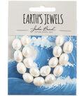 John Bead Earth\u0027s Jewels Freshwater Pearls Rice-White 10-12mm