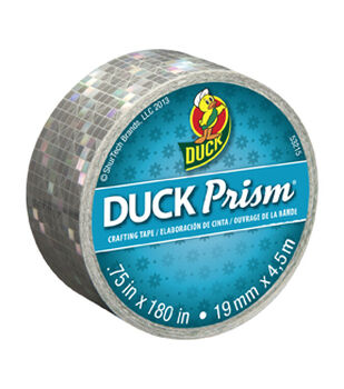 Color Duck Tape Brand Duct Tape-Prism Silver 1.88 in. x 20 yd.