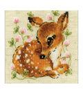 RIOLIS 5\u0027\u0027x5\u0027\u0027 14-count Counted Cross Stitch Kit-Little Deer