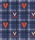 University of Virginia Cavaliers Fleece Fabric 58\u0022-Plaid