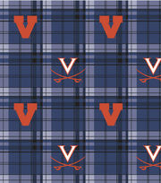 "University of Virginia Cavaliers Fleece Fabric 58""-Plaid, , hi-res"