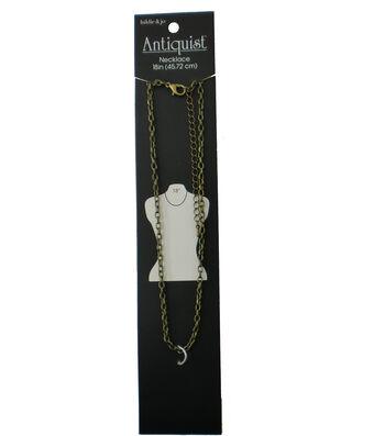hildie & jo Antiquist 18'' Antique Gold Necklace