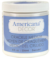 DecoArt Americana Decor 8 oz. Crackle Medium-Clear, , hi-res