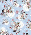 Christmas Cotton Fabric 43\u0022-Winter Snowman