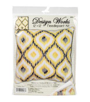 Design Works Crafts 12''x12'' Needlepoint Kit-Yellow Ikat
