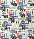 Anti-Pill Plush Fleece Fabric-Explore Bears And Arrows
