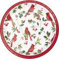 Handmade Holiday Christmas 8 pk 7\u0027\u0027 Paper Lunch Plates-Cardinals
