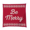 Handmade Holiday Christmas 18\u0027\u0027x18\u0027\u0027 Pillow Cover-Be Merry & Fair Isle