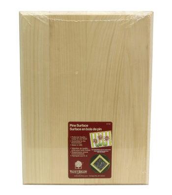 """Pine Rectangle Plaque-9""""X12""""X.63"""""""