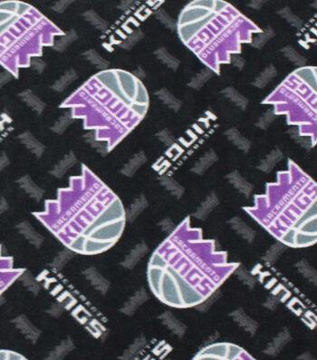 Sacramento Kings Fleece Fabric -Logo Toss