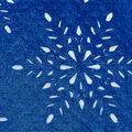 Christmas Cotton Fabric-Black Snowflake Blue Foil