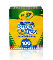 Crayola 100 pk Super Tips Washable Markers, , hi-res