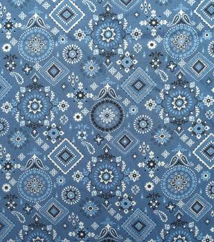 Sportswear Denim Fabric-Navy Bandana