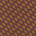 Cotton Shirting Fabric-Red Multi Spiced Bazaar Metallic