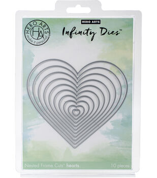 Hero Arts Infinity Dies-Nesting Hearts