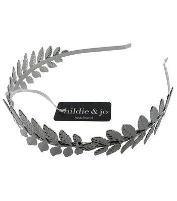 hildie & jo 5.88''x5'' Leaves Silver Headband