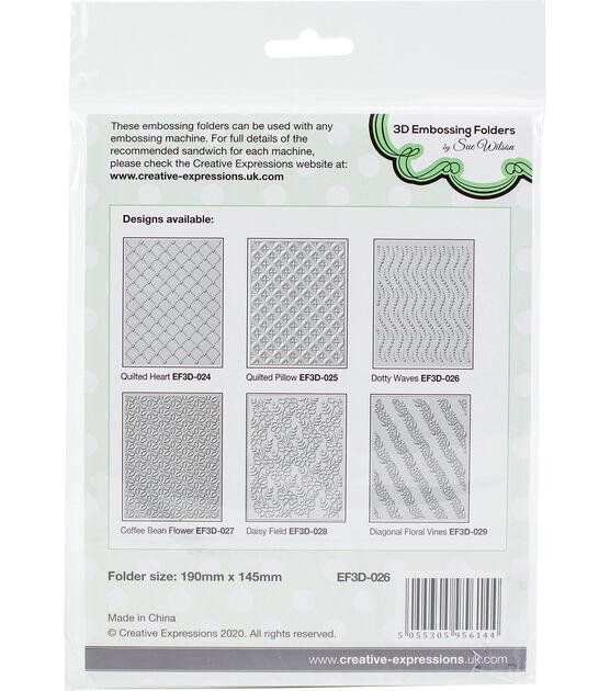 "Creative Expressions 5.75 X 7.5/"" 3D gaufrage dossier rose lit EF3D-018"