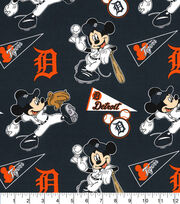 Detroit Tigers Cotton Fabric-Mickey, , hi-res