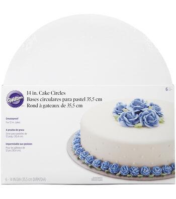 """Wilton 14"""" Cake Circles-6/Pkg"""