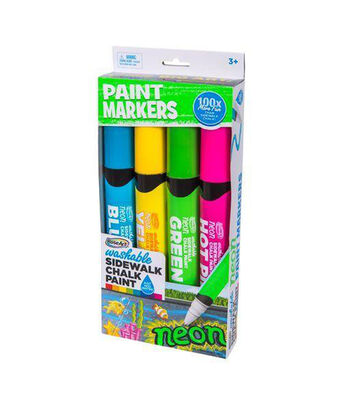 RoseArt 4ct Washable Sidewalk Chalk Paint Neon Markers