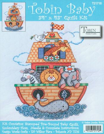 "Noah's Ark Quilt Stamped Cross Stitch Kit-34""X43"""