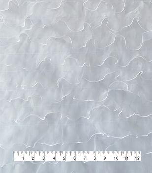 Sew Sweet Dahlia Mesh Ruffle Fabric 57''-White