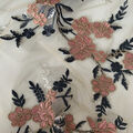 Casa Collection Dahlia Mesh Fabric with Embellished Shimmer Floral